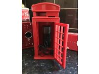 Retro telephone box/ telephone