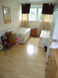 Share room available now in clean flat, by the local shops, library, GYM with free parking