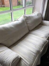 Tetrad cream grand sofa - bought from John Lewis