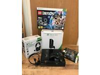 Xbox 360 S console with accessories and Lego Dimensions and Minecraft