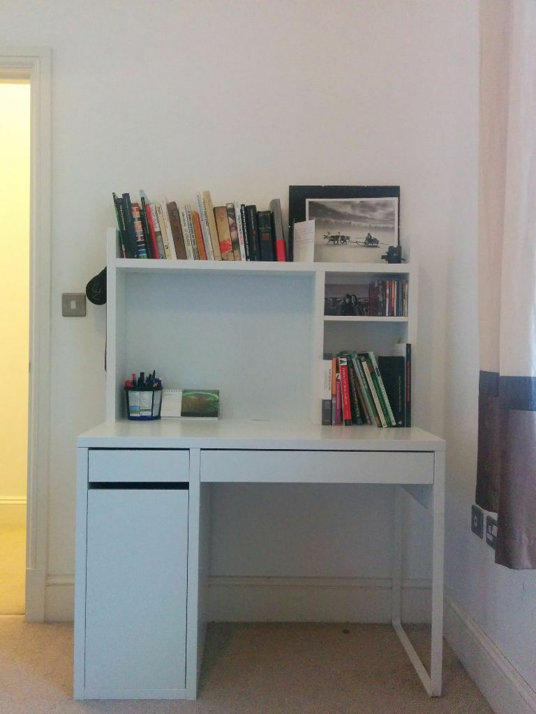 ikea micke desk with bookshelf in maidstone kent gumtree. Black Bedroom Furniture Sets. Home Design Ideas