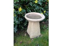 Old style Staddle stone bird bath £28.00