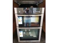 New NEFF U14M42N5GB Built In 59cm Electric Double Oven Stainless Steel Rrp £699