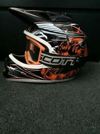 THH Motocross Helmet size small Youth Motorcycle Helmet