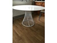 Marks and Spencer White Conran Circular Dining Table