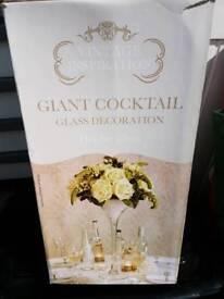 Giant cocktail decoration glasses.
