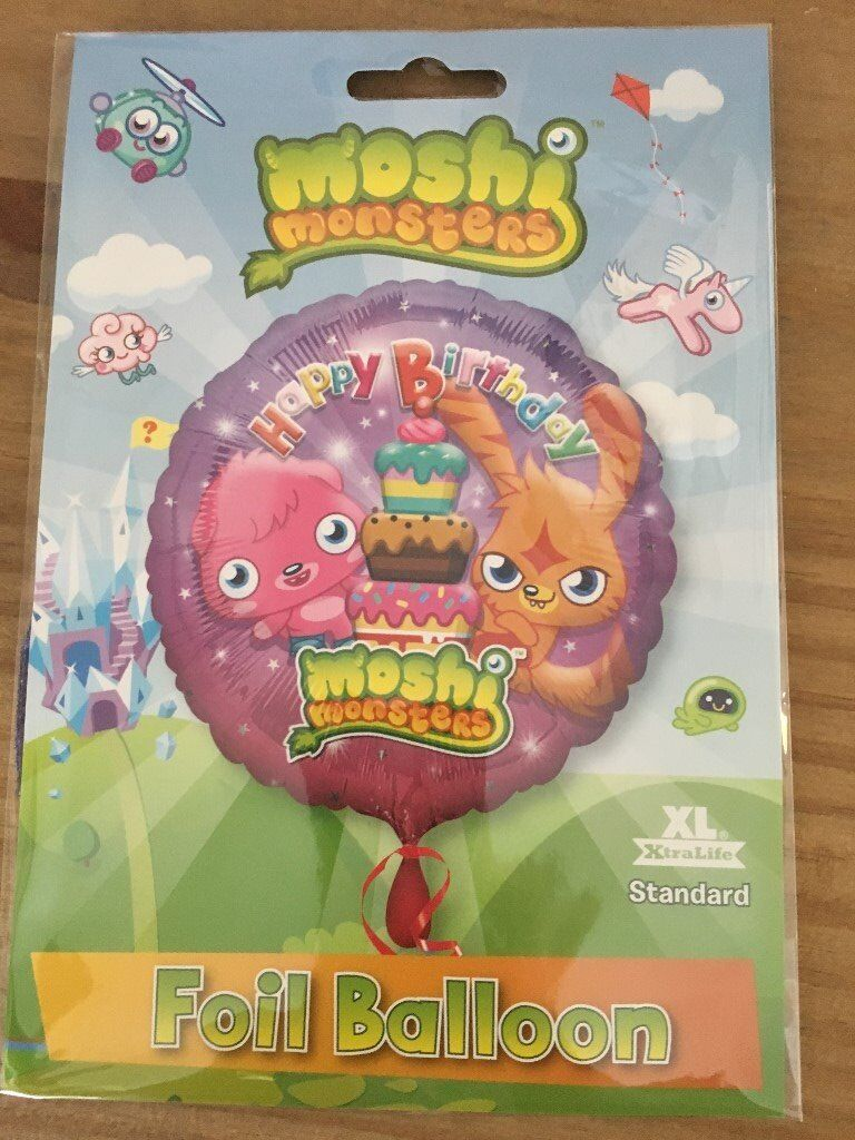 Happy Birthday Childrens Boys Girls Helium Balloon Foil Present Gift Delivery Moshi Monsters