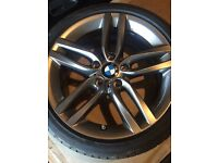 "Like new BMW 1 or 2 series Msport 18"" BMW alloy wheels with like new Bridgestone run flat tyres"