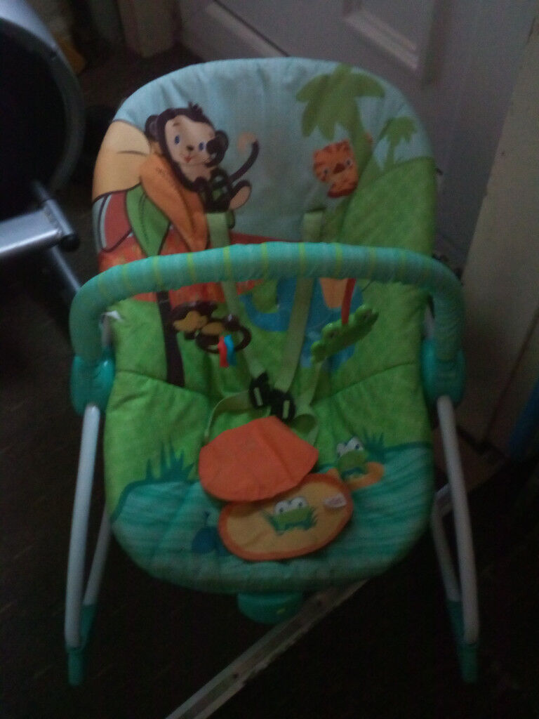 Bright Starts Baby Bouncer and Rockers 6 Months Old Vibrates