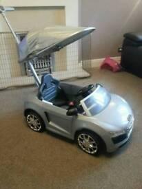 AUDI R8 kids sit in car- Christmas present