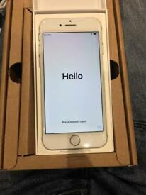 Brand New iPhone 7 128GB Silver EE Virgin Asda BT Boxed with New Genuine Charging Lead with Warranty