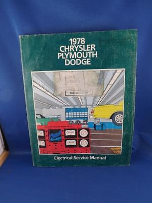 1978 CHRYSLER PLYMOUTH DODGE ELECTRICAL SERVICE MANUAL CAR AUTO REPAIR DIAGRAMS
