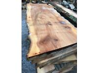 Elm cherry and oak planked timber