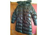 Brave soul Monroe high shine size 12 long padded coat