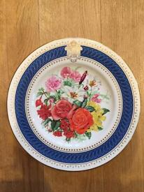 Three Collectors Plates - Royal Worcester / Chateau De Malmaison / Chateau De Fontainebleau