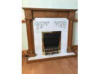Fire surround with hearth -Doesn't includ fire