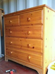 "IKEA Pine Wood Dresser 31""h x31""w x16"" deep / Chest of 4 drawers draws / Oakville / Light blonde 905 510-8720"