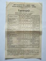 Tarvisio Vecchio Volantino Brochure Alberghi Gite Sci Udine -  - ebay.it