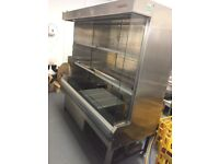 Used Arneg 2m High x 2m Wide Stainless Steel Chiller/Display Unit in Good Working Order
