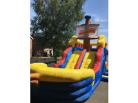 Inflatable Pirate Ship Water Slide - outdoor fun for kids