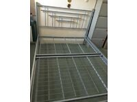 Standard Double metal bed frame sliver