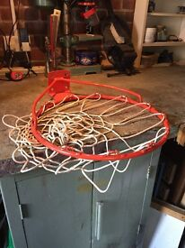 """Basketball Hoop. 48cm. 18.5"""". Sturdy. Full net included. Bolts supplied."""