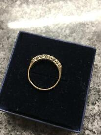 Ladies 9ct gold diamond ring