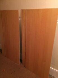 6 Panels from ikea sliding door frame