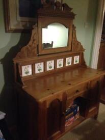 Pine tiled sideboard/ dresser very decorative