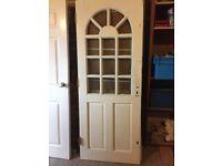 External door, glazed. Used.