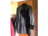 Ladies leather jacket and leather trouser