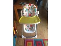 Mama and papa high chair
