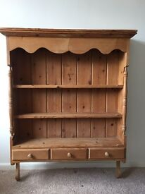 Lovely pine dresser / plate rack. Great for shabby chic project / farmhouse style kitchen