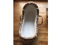 Beautiful Mothercare Snug Moses Basket
