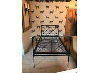 Iron large single bed