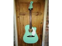 Fender Sonoran SCE surf green electro acoustic guitar £225 ONO