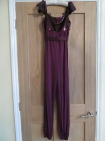 Monsoon Age 11 Burgundy and Sparkle trouser/jump suit