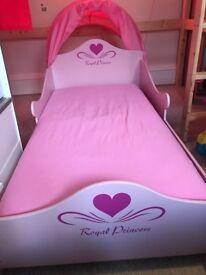 Royal princess pink bed - with mattress,tent
