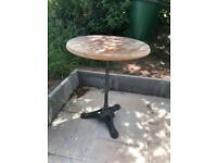 Black Cast iron garden table