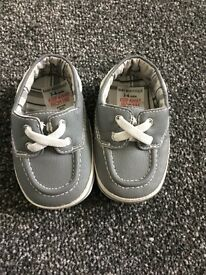 Brand New Baby Boutique Grey Boat style shoes £3