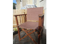 Tan coloured directors chair