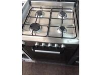 Stainless steel indesit 60cm gas cooker grill & oven good condition with guarantee bargain