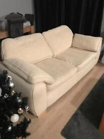 2x 3 seater fabric sofas
