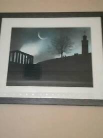 Eclipse over calton hill Edinburgh