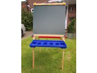 Melissa & Doug Deluxe Solid Wood Standing Art Easel. Folds flat for easy storage. Pet & smoke free