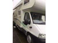 6 Berth Motorhome complete with Insurance and Gas