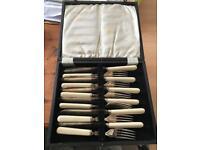 Fork knife fish set