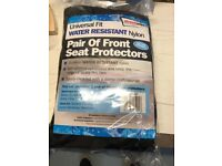Pair of universal front seat covers - water resistant - Brand new in packaging