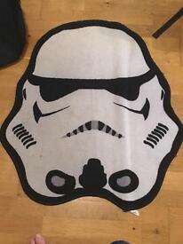 Storm trooper bed side mat