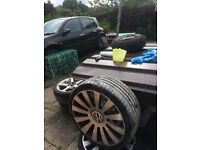 Volkswagen caddy wheels, 19 inch tyres in really good condition except one. All others perfect.